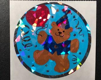 Sandylion Stickers, Scrapbooking, Vintage, Party Foil Bear  (1 mod)