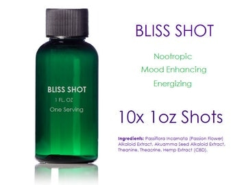 Bliss Shots [10 Shots]. Nootropic - Mood Enhancing - Energizing.