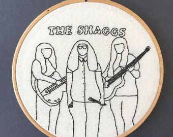 The Shaggs Embroidery Hoop // Hand Stitched // For Music Lovers // Outsider Music