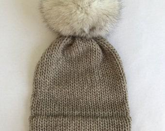 Tan Knit Hat