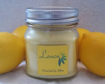Lemon Handcrafted Soy Candle