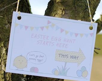 Easter egg hunt kit - six individually designed cards & string