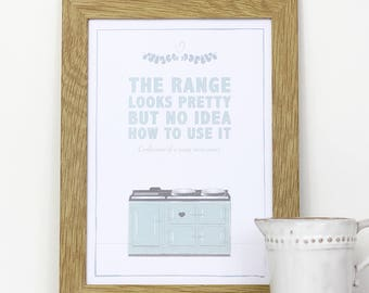 A4 framed wall print for your kitchen – The range, looks pretty but no idea how to use it