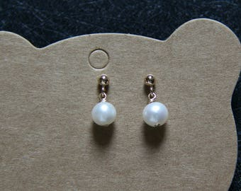 14k gold filled freshwater pearl earrings