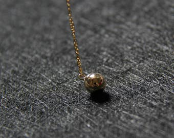 14k gold filled ball pendant necklace