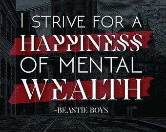 Beastie Boys Quote Poster
