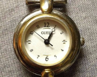 Ladies Guess Inc 1997 quartz watch. Attractive dial I've never seen before