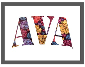 "Custom Name Digital Print ""AVA"""