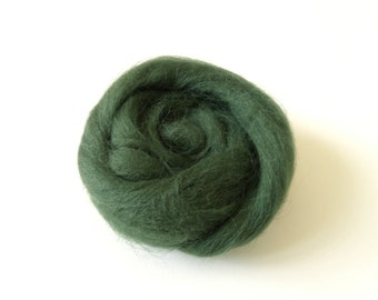 25g worsted Merino carded spinning and/or felting color Loden