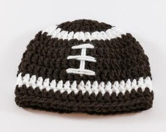 Superbowl Hat, Crochet Baby Hat, Baby Football Hat, Baby Boy Hat, Sports Hat, Baby Beanie, Newborn Photo Prop, Baby Girl Hat, Infant Hat