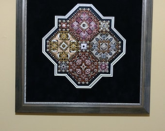 A Different View Needlework Fiber Art Framed Art