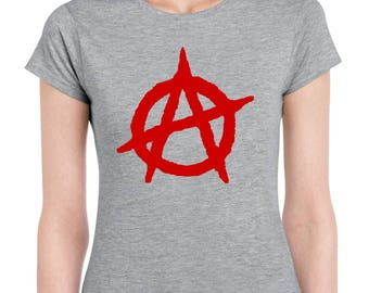 Punk Rock Anarchy Symbol Women t shirt