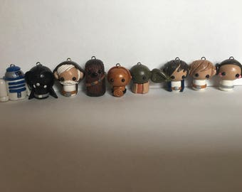 Star Wars - Full set of polymer clay figures- SHIPS FREE!