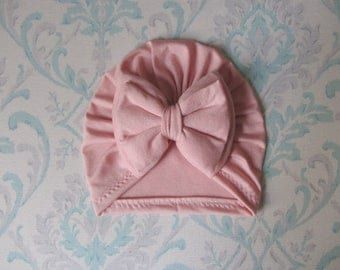 Blush Turban Double bow