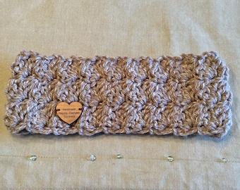 Handmade crocheted headband earwarmer
