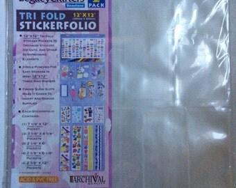 "Tri Fold Stickerfolio - 12""x 12"""