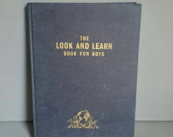 Look and Learn Book for Boys 1962   Vintage Children's Book