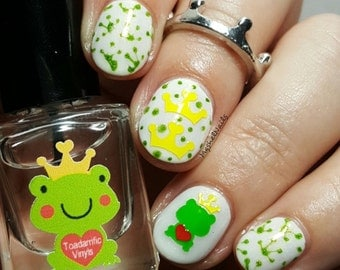 Toadarrific Frog Nail Decal