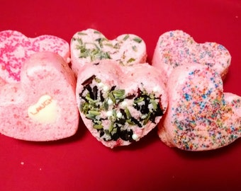 Love Bombs ~ Set of 6 Mini Bath Bombs