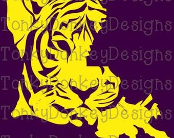 Louisiana - LSU Tigers - cutting files for cutting machines (Brother, Silhouette, Cricut) - svg, jpeg, eps, dxf, studio3