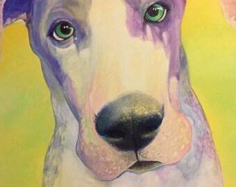Liam - oil painting great dane portrait