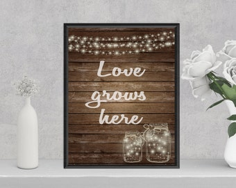 Love Grows Here (8.5x11 Digital Print) Instant Download