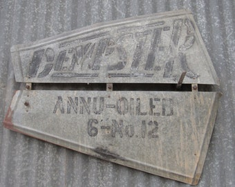 Vintage Dempster Windmill Vane, No. 12 Model, 1920's to 1960's.