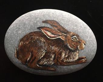 Hand Painted Wild Hare Rock