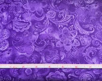 Quilters Batiks - Purple Floral