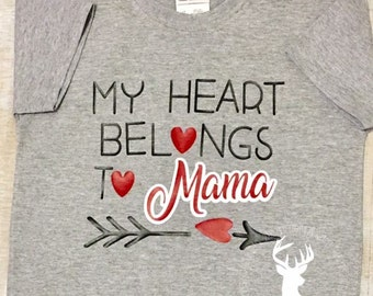 Mama's Boy Valentine's Day Shirt Baby Boy Valentine's Day Shirt Holiday Shirt