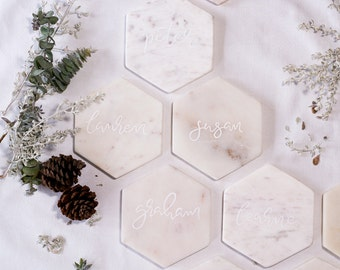 Marble Coaster Place Settings