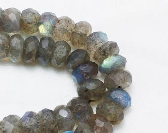 10% SALE Natural Labradorite 7 mm Approx beads ,faceted beads, Labradorite necklace