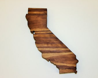 California State Sign, California Wood Sign, California Art, California Rustic Sign, California Home Decor