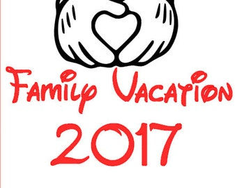 2017 Family Vacation Mickey Custom Disney SVG File for Cricut Silhouette