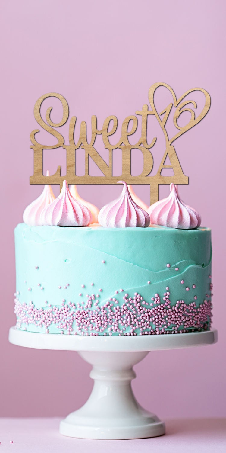 Personalized Name - Custom Sweet 16 Cake Topper Party ...