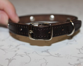 Leather Cat Collar Leather Dog Collar