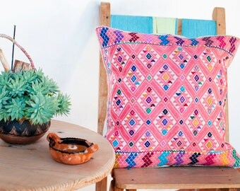 Mexican Pillow from Chiapas in Waist Loom woven