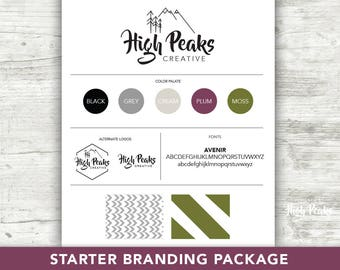 Starter Branding Package - Custom Logo Design  -  Custom Branding Package - Business Logo