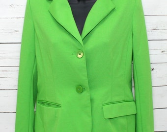 Gap Women's Lime Green Blazer Small Long Sleeve
