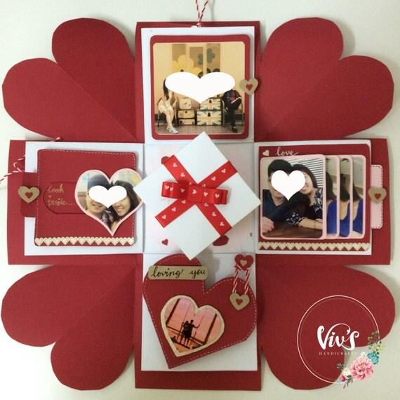 Love explosion box love exploding box surprise exploding - Que hacer para sorprender a tu novio ...