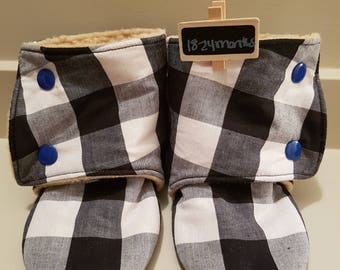 18  to 24 month toddler booties - size 8