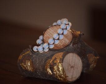 Moonstone Bracelet (Double Wide)