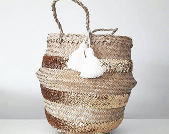 Basket gold sequins