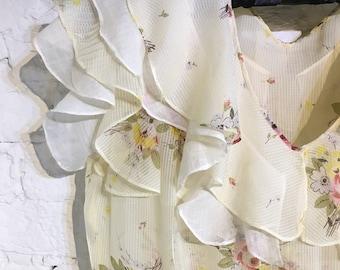 Original 1930s Romantic Dress with Ruffles