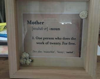 Mother's Day frame art