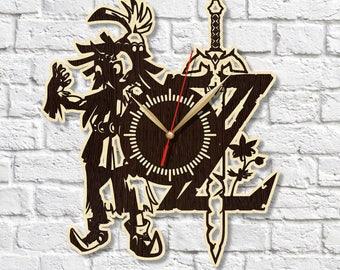 Zelda clock Wooden clock HDF clock Acrylic clock Housewarming gift Wall art Birthday gift Wall clock Home decor Wood clock Gift ideas