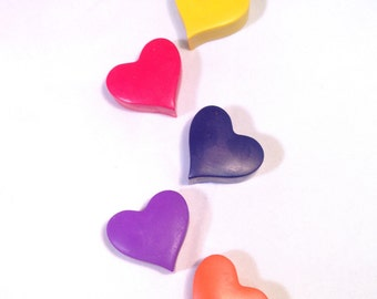 Heart Crayons//Valentine's Day Favors//Heart Party Favors//Classroom Gifts//Classroom Party//Stocking Stuffers