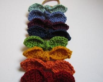 Crochet knotted bow, crochet bow, crochet head piece, knotted bow, boho, baby bow, baby headband