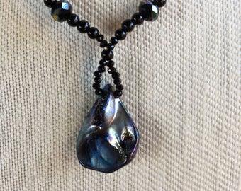 Black shell pendant