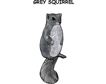 grey squirrel clock